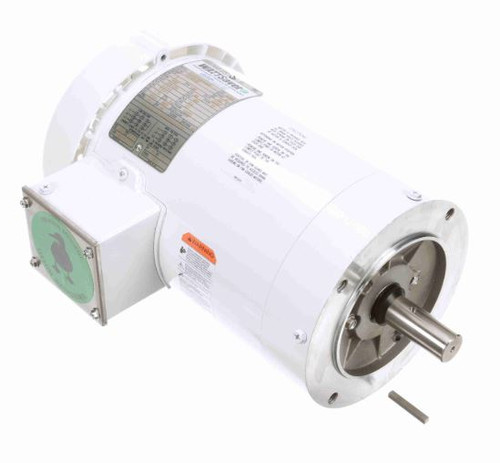 122183.00 Leeson |  2 hp 3600 RPM 145TC Frame TEFC (no base) C-Face 208-230/460V Wash Down Duty