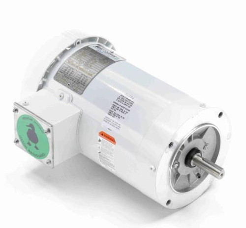 119471.00 Leeson |  2 hp 1800 RPM 56C Frame TEFC (no base) C-Face 208-230/460V Wash Down Duty