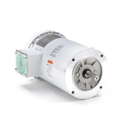 2 hp 1800 RPM 145TC TEFC (no base) 208-230/460V Wash Down Duty Leeson Electric Motor # 122182