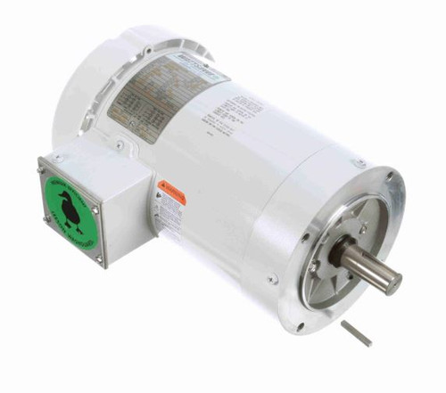 3 hp 3600 RPM 145TC Frame TEFC (no base) C-Face 208-230/460V Wash Down Duty Leeson Electric Motor # 122184
