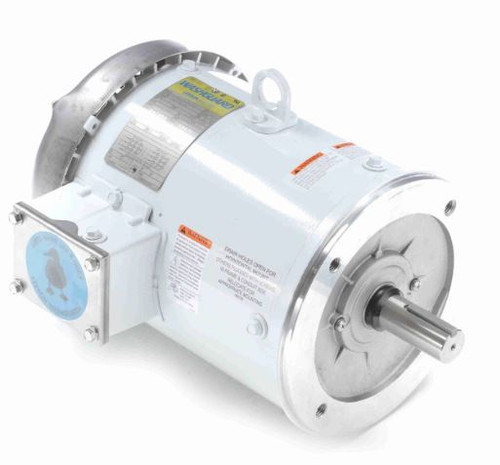 132439.00 Leeson |  3 hp 1800 RPM 182TC Frame TEFC (no base) C-Face 208-230/460V Wash Down Duty