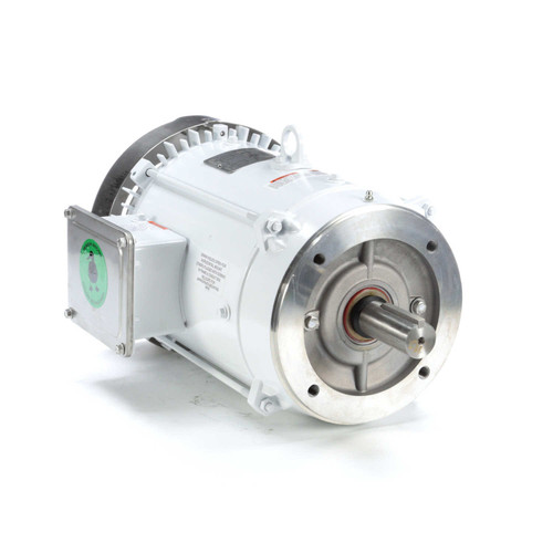7.5 hp 3600 RPM 213TC Frame TEFC (no base) C-Face 230/460V Wash Down Duty Leeson Electric Motor # 141267