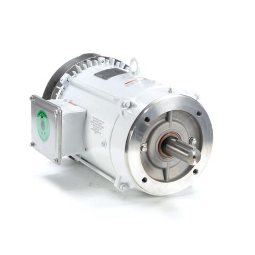 141267.00 Leeson |  7.5 hp 3600 RPM 213TC Frame TEFC (no base) C-Face 230/460V Wash Down Duty