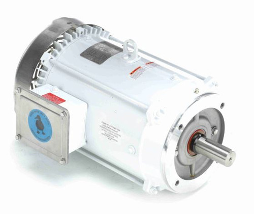 10 hp 1800 RPM 215TC Frame TEFC (no base) C-Face 230/460V Wash Down Duty Leeson Electric Motor # 141268