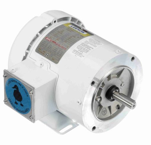 112523.00 Leeson |  1/4 hp 1800 RPM 56C Frame TEFC 208-230/460V Wash Down Duty
