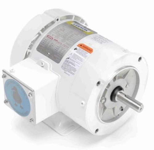 112547.00 Leeson |  1/3 hp 1800 RPM 56C Frame TEFC 208-230/460V Wash Down Duty