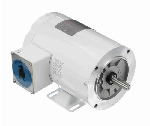 1/2 hp 1800 RPM 56C Frame TENV 208-230/460V Wash Down Duty Leeson Electric Motor # 113586