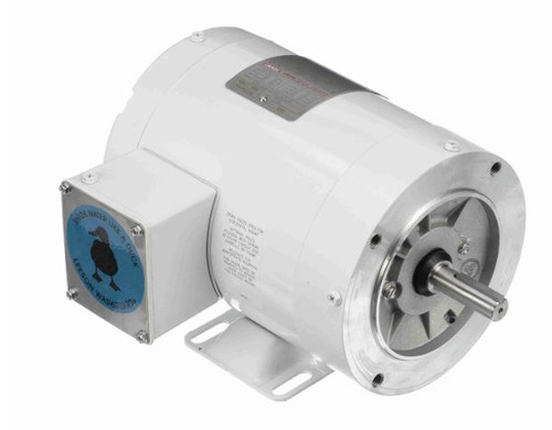 113589.00 Leeson |  3/4 hp 3600 RPM 56C Frame TENV 208-230/460V Wash Down Duty