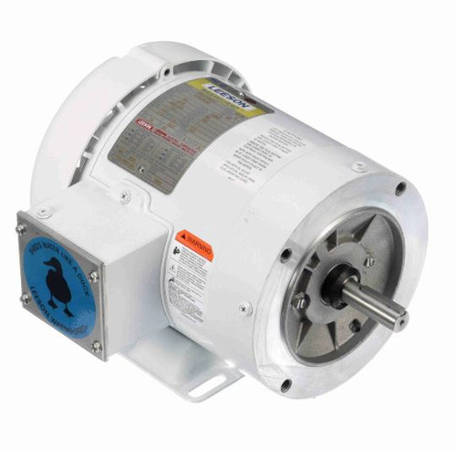 112430.00 Leeson |  3/4 hp 1800 RPM 56C Frame TEFC 208-230/460V Wash Down Duty
