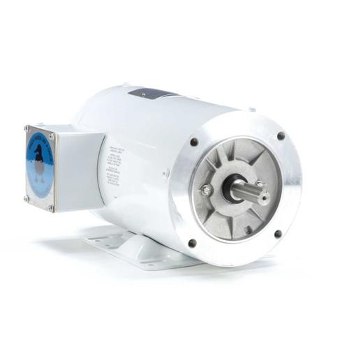 113590.00 Leeson |  1 hp 3600 RPM 56C Frame TENV 230/460V Wash Down Duty