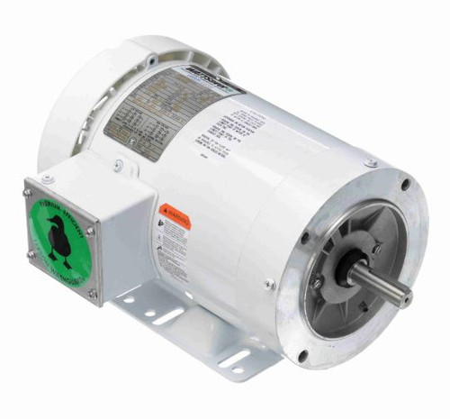 119476.00 Leeson |  1 hp 1800 RPM 56C Frame TEFC 208-230/460V Wash Down Duty