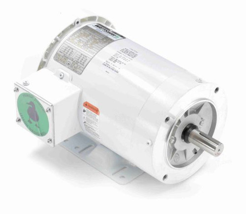 121867.00 Leeson |  1 hp 1800 RPM 143TC Frame TEFC 208-230/460V Wash Down Duty