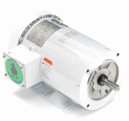 1 hp 1200 RPM 56HC Frame TEFC 208-230/460V Wash Down Duty Leeson Electric Motor # 119478