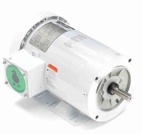 1 hp 1200 RPM 56HC Frame TEFC 208-230/460V Wash Down Duty Leeson Electric Motor # 119478