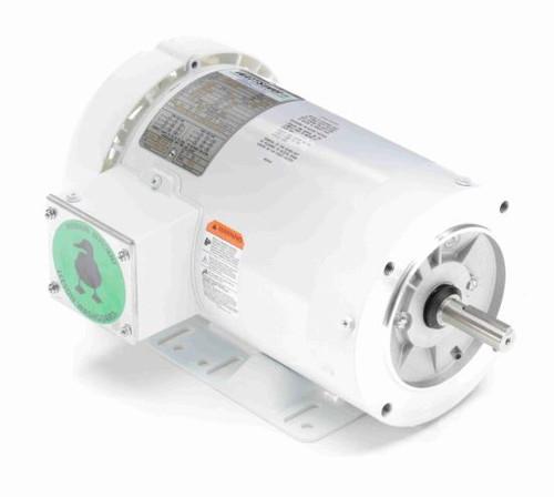 1.5 hp 1800 RPM 56C Frame TEFC 208-230/460V Wash Down Duty Leeson Electric Motor # 119480
