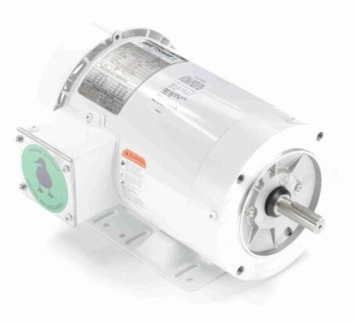 119483.00 Leeson |  2 hp 1800 RPM 56C Frame TEFC 208-230/460 Volts Wash Down Duty