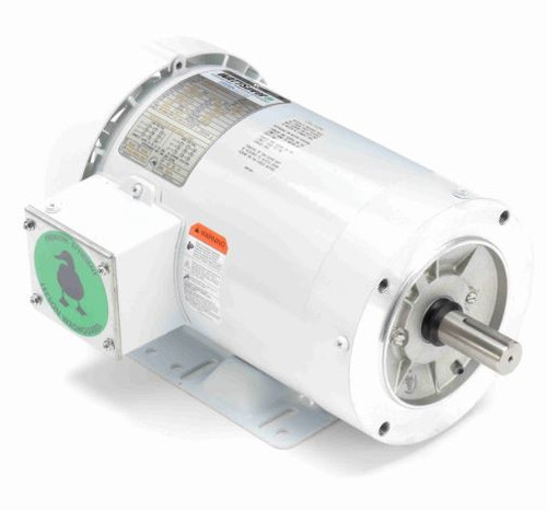 3 hp 3600 RPM 145TC Frame TEFC 230/460V Wash Down Duty Leeson Electric Motor # 121870