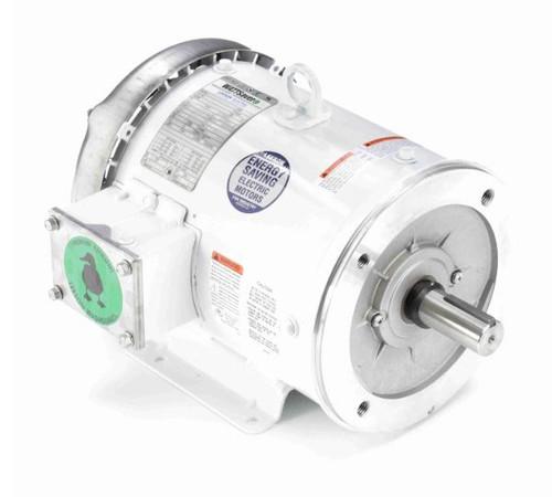132198.00 Leeson    3 hp 1800 RPM 182TC Frame TEFC 230/460V Wash Down Duty