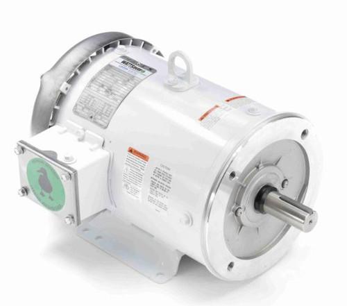 132201.00 Leeson |  5 hp 1800 RPM 184TC Frame TEFC 230/460V Wash Down Duty