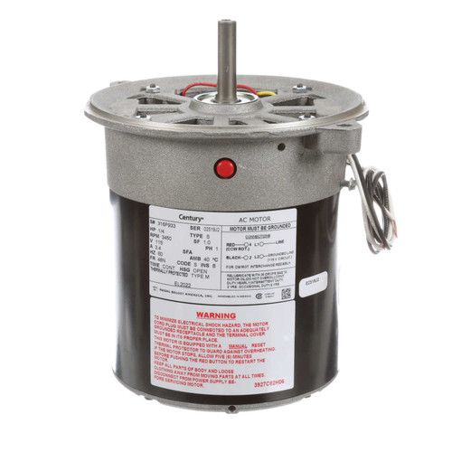 Oil Burner Motor 1/4 HP 3450PM 48N Frame 115V Century # EL2022