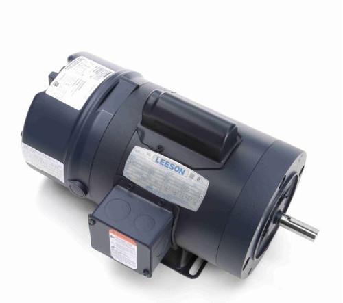 114165.00 Leeson |  1/3 hp 1725 RPM 56C Frame TENV C-Face (Rigid Base) Brake Motor 115/208-230V