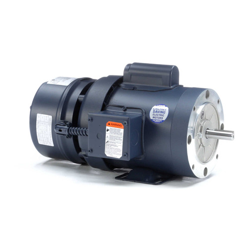 111950.00 Leeson |  1/2 hp 1725 RPM 56C Frame TEFC C-Face (Rigid Base) Brake Motor 115/208-230V