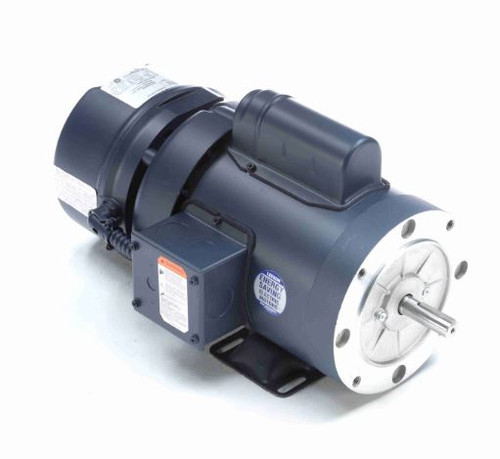 114167.00 Leeson |  3/4 hp 1725 RPM 56C Frame TEFC C-Face (Rigid Base) Brake Motor 115/208-230V