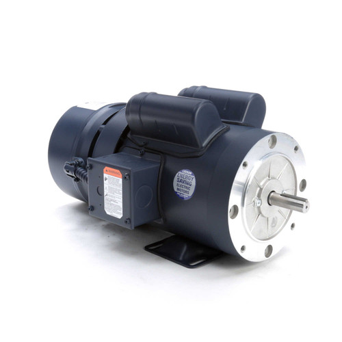 111951.00 Leeson |  1 hp 1725 RPM 56C Frame TEFC C-Face (Rigid Base) Brake Motor 115/208-230V