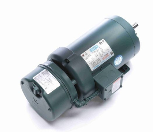 122245.00 Leeson |  1 hp 1200 RPM 145T Frame TEFC (Rigid Base) Brake Motor 230/460V