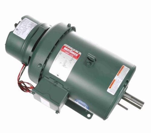 132474.00 Leeson |  2 hp 1200 RPM 184T Frame TEFC Brake Motor 230/460V