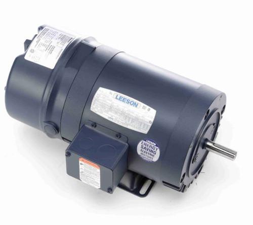 111328.00 Leeson |  1/2 hp 1725 RPM 56C Frame ODP C-Face Brake Motor 208-230/460V