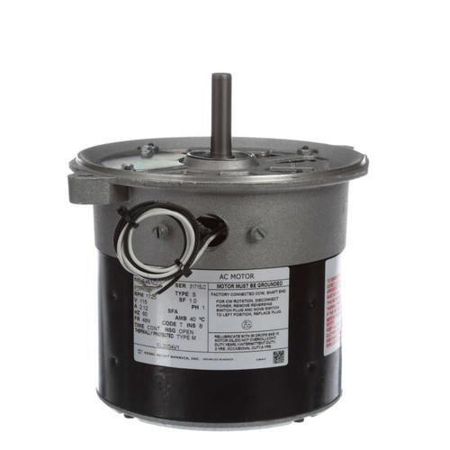 Oil Burner Motor 1/8 HP 1725 RPM 48N Frame 115V Century # EL2004V1