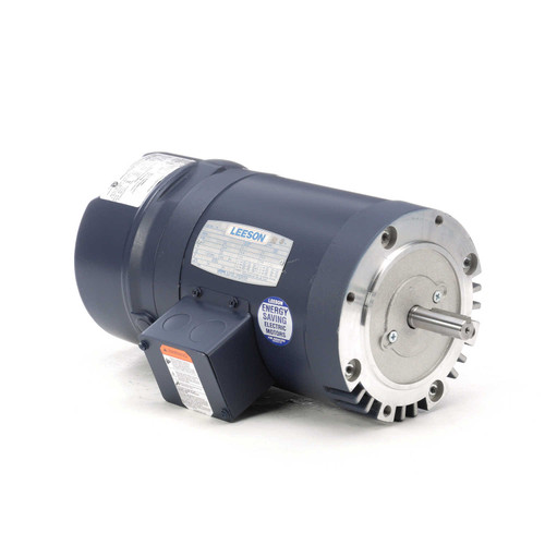 114157.00 Leeson |  3/4 hp 1725 RPM 56CFrame ODP C-Face (No Base) Brake Motor 208-230/460V