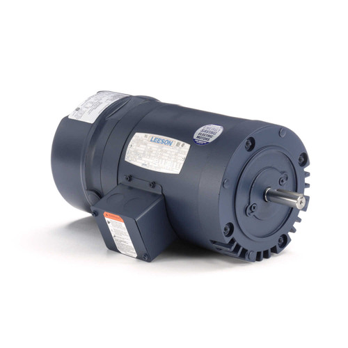 114166.00 Leeson |  1 hp 1725 RPM 56C Frame ODP C-Face (No Base) Brake Motor 208-230/460V