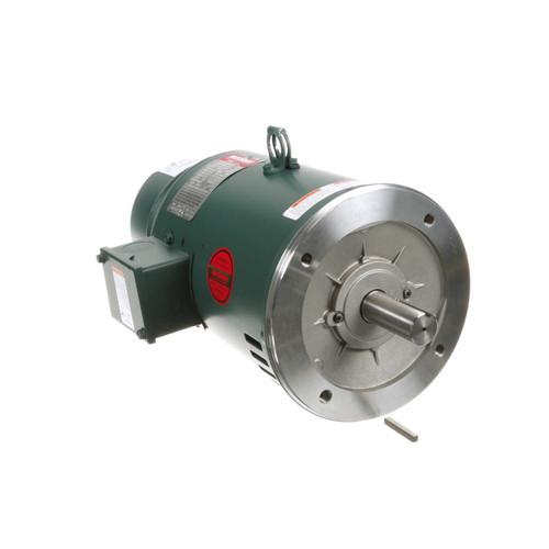 132471.00 Leeson |  5 hp 1800 RPM 184TC Frame ODP C-Face (No Base) Brake Motor 230/460V