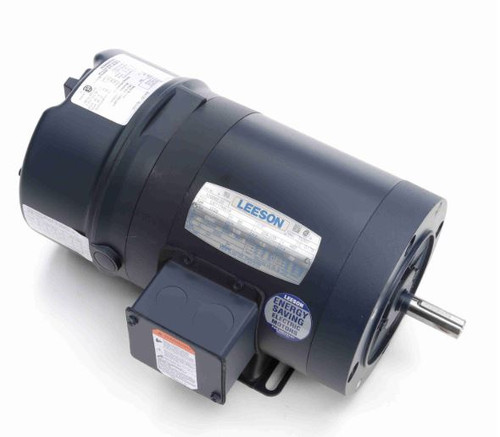 1/3 hp 1800 RPM 56C Frame TENV C-Face (Rigid Base) Brake Motor 208-230/460V Leeson Motor # 110669