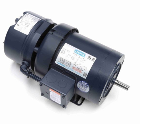 1/2 hp 1800 RPM 56C Frame TEFC C-Face (Rigid Base) Brake Motor 208-230/460V Leeson Motor # 114154
