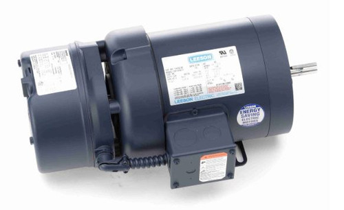 114152.00 Leeson |  1/2 hp 1200 RPM 56C Frame TEFC C-Face (Rigid Base) Brake Motor 208-230/460V