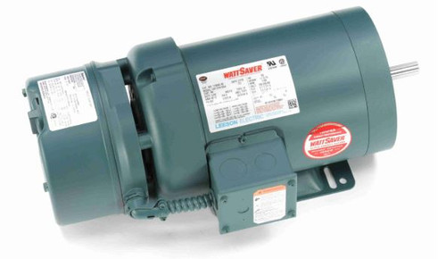 119563.00 Leeson |  1 hp 1800 RPM 56C Frame TEFC C-Face (Rigid Base) Brake Motor 208-230/460V