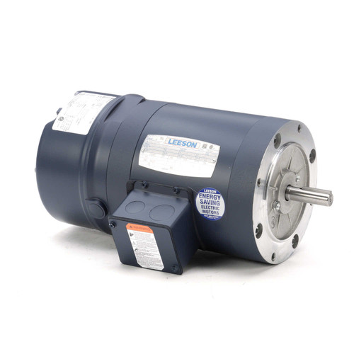 114158.00 Leeson |  1/3 hp 1800 RPM 56C Frame TENV C-Face (No Base) Brake Motor 208-230/460V