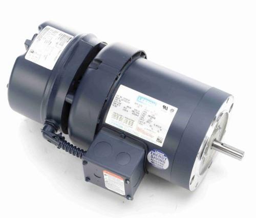 1/2 hp 1800 RPM 56C Frame TEFC C-Face (No Base) Brake Motor 208-230/460V Leeson Motor # 114159