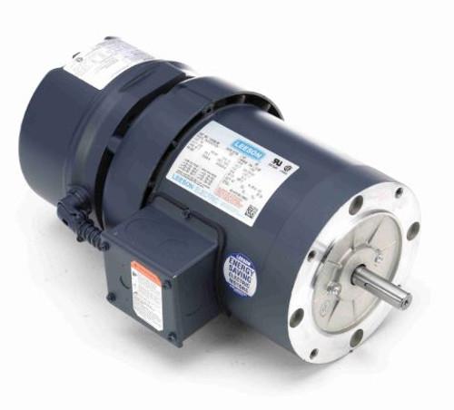 114160.00 Leeson |  3/4 hp 1800 RPM 56C Frame TEFC C-Face (No Base) Brake Motor 208-230/460V