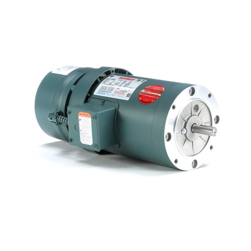 119564.00 Leeson |  1 hp 1800 RPM 56C Frame TEFC C-Face (No Base) Brake Motor 208-230/460V