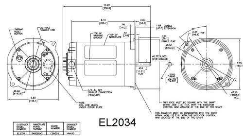 Oil Burner Motor 1/3 hp 1725 RPM 48N Frame Century # EL2034