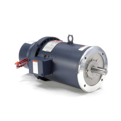 132480.00 Leeson |  5 hp 1800 RPM 184TC Frame TEFC C-Face (No Base) Brake Motor 230/460V
