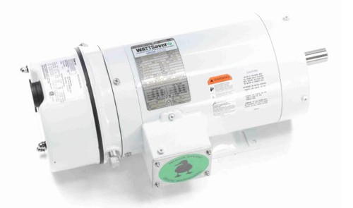 122193.00 Leeson |  1 hp 1800 RPM 143TC TENV Washdown Duty Brake Motor w/Base 208-230/460V