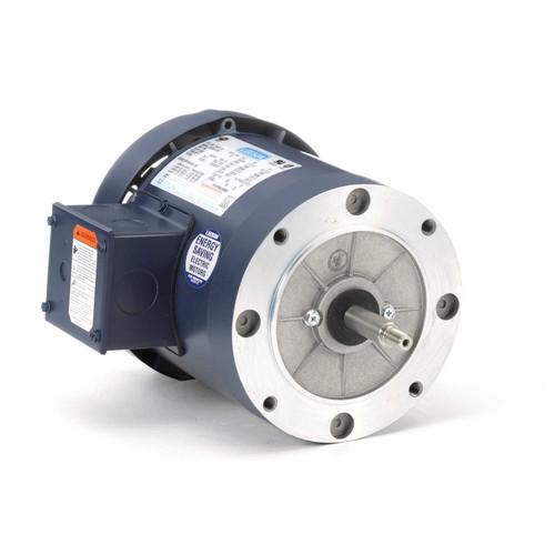 3/4 hp 3600 RPM 56J Frame TEFC C-Face (No Base) 208-230/460V Leeson Electric Motor # 114208