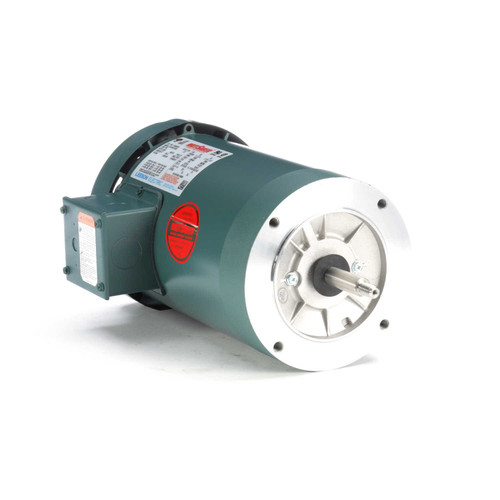 3 hp 3600 RPM 56J Frame TEFC C-Face (No Base) 230/460V Leeson Electric Motor # 119456