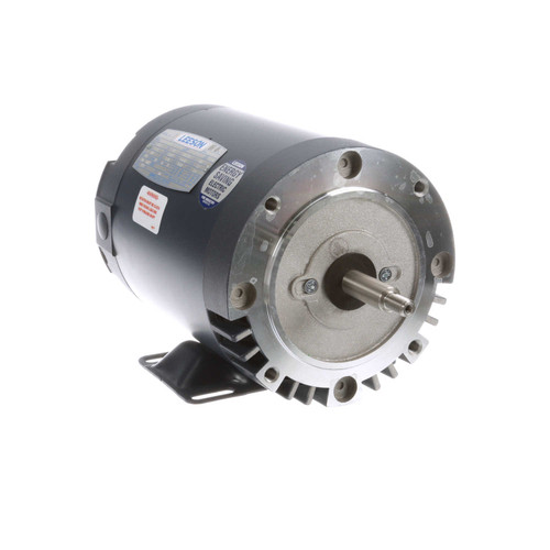 114203.00 Leeson |  1.5 hp 3600 RPM 56J Frame ODP C-Face (Rigid Base) 208-230/460V