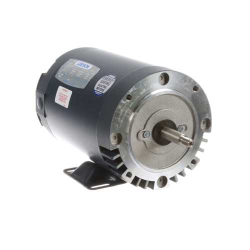 114202.00 Leeson |  2 hp 3600 RPM 56J Frame ODP C-Face (Rigid Base) 208-230/460V